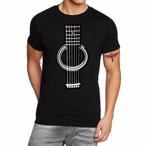 Buy T Shirts Online Crew Neck Short Sleeve Office Harajuku Guitar Art Tee For Men