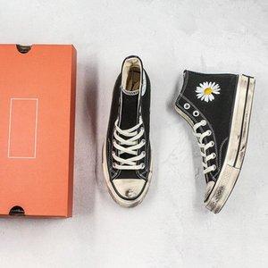 G-Dragon PEACEMINUSONE x Conver sapata de lona Daisy Designer Hot IG sujo Material sapatos Snesker instrutor atlético Esportes