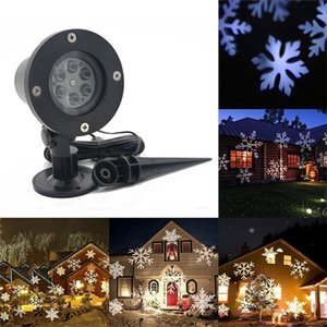 Plastic Outdoor Snowflake Lamp LED Lighting Waterproof Lawn Christmas Card Projection Holiday Party Celebration Supplies High Quality 43mx h