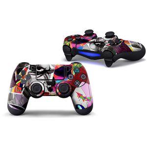 Gaming-Controller Dekorationen Aufkleber für PS4 Vibration Joystick Gamepad Game-Controller für Sony Play Station PS4 Aufkleber DHC395