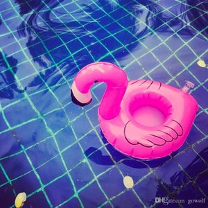 Hotest Mini Pink Flamingo Inflatable Drink Holders Floating Toy Pool Party Bath Cell Phone Holder Pool Event Party Supplies Swimmming