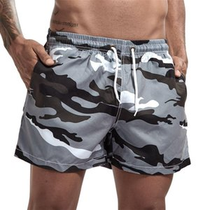 2020 Summer Beach Shorts Men Fashion Camo Shorts Men Casual Solid Short Pants homme