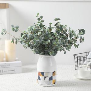 Искусственные растения Шелковый Бегония Листья Пластиковые Отделение для Vase Поддельный Бегония Grass Garden Home Свадебные украшения Искусственные растения