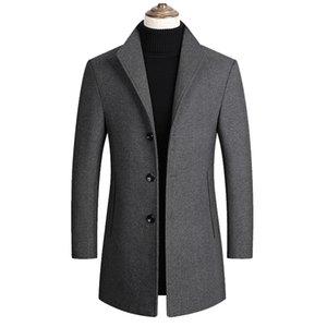 New Men Wool Blends Coats Autumn Winter Solid Men's Wool Jacket Smart Casual Male Coats Luxurious Brand Clothing 2020
