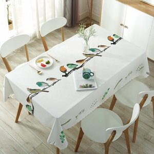 PVC Plastic Table Cloth Rectangular round Waterproof Oilproof Table Cover Pastoral Style Printed Tablecloths for Wedding Party T200707