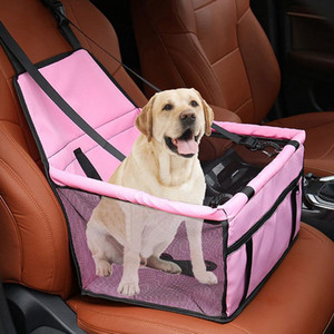 Folding Pet Car Waterproof Safety Travelling Carrier Kennel Mesh Hanging Bags Dog Seat Bag Basket T200618