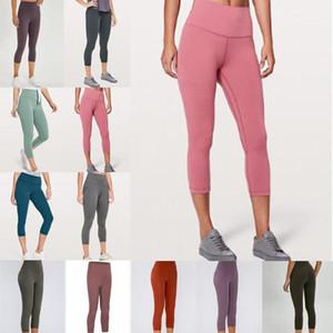 F Frauen Yogahosen Designer Wunder Zug Training Turnhalle lu 25 32 Gamaschen feste Farbe hohe Taille Sport trägt elastische Fitness Dame Strumpfhosen fd89 #