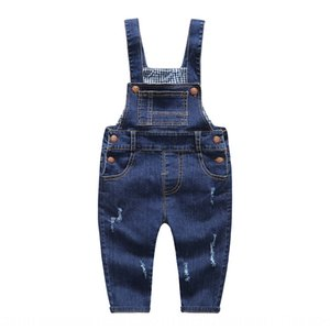 anORN New Korean style baby's belt Jeans children's panty panty children's denim pants all-match baby's belt pants for men and women in 2020