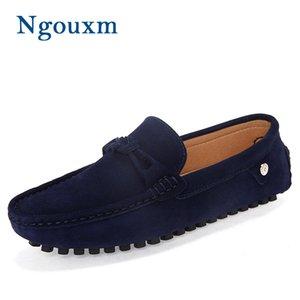Ngouxm 2020 Новые мужские Мокасины Мокасины Повседневная замша кожа обувь для мужчин темно-синий лоферы мокасинах Человек
