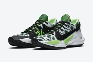 Kids Freak 2 Green White 34 Men Women Basketball Shoes With Box New Giannis Antetokounmpo GA2 Black Sport Shoes Size 4-12
