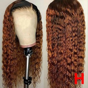 1b 30 Colored Human Hair Wigs Honey Blonde Lace Front Human Hair Wigs Remy Water Wave 360 Lace Frontal Wig Brazilian Ombre Wigs