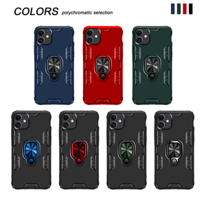 TPU Magnetic Ring Holder Armor Cell Phone Cases For Samsung Galaxy A01 A21 S20 Plus Iphone 11 Pro Max 360 King Kong Covers