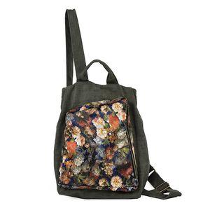 ABER 2020 Nuovo Handmade pittura zaino in lino di grande capienza delle donne borsa da viaggio artistico Tempo libero Vintage Lady Bagpack