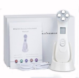 Facial Skin EMS Electroporation RF Radio Frequency Facial LED Photon Skin Care Device Face Lift Tighten Beauty Machine
