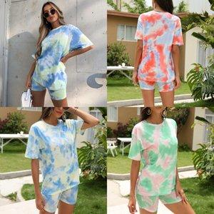 Autumn Fashion New Women'S Suit Cotton Letter Pattern Casual Sports Suit Short T-Shirt Long Section Tights#500