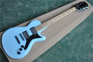 free shipping LP standard sky blue guitar,mahogany body and neck,L6S guitar,maple fretboard, LP bridge,chrome hardware,3 stwich
