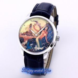 클래식 제조 3203-136LE-2 / MANARA.09 미로 마 나라의 회화는 2892 자동 남성 시계 904L 스틸 케이스 가죽 스트랩 Luxry 시계 다이얼