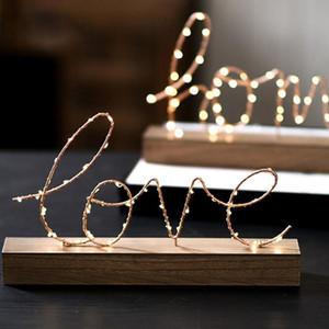 Startseite Dekorative Figuren verziert LED-Lampen-Licht-Liebesbrief Wohnzimmer Schlafzimmer Layout-Dekoration Valentinstag Geburtstagsgeschenk