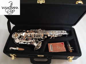 Japan Yanagisawa S-901 Curved Neck BbTune Nickel Silver Brass Soprano Saxophone Instrument For Students With Mouthpiece Gift