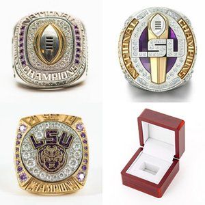 LSU 2019 2020 Geaux Tigers Nationale Orgeron College Football Playoff SEC-Team-Meister-Meisterschaft-Ring Fan-Mann-Geschenk Großhandel