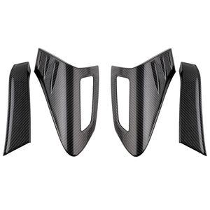 4Pcs Carbon Fiber Style Rear Tail Light Back Lamp Cover Body Trim for Toyota CHR 2018