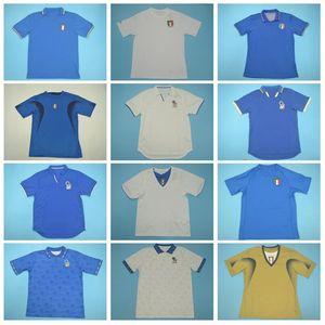 1982 1986 1990 Retro Football Italie BAGGIO Jersey DEL PIERO ZOLA Faroni VANNAVARO DE ROSSI Baresi NESTA Vintage Italia football Kits chemise