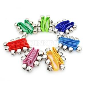 100pair Дети Музыкальных образовательных игрушек Детской наручный браслет Белл Рука трещотка Танцы Музыка