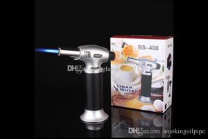 도매 부탄 가스 토치 방풍 제트 화염 직선 라이터 금속 담배 시가 토치 흡연 도구는 무료 DHL