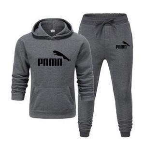 2020 casuale progettista Tuta Men 2 collega gli insiemi di pantaloni Pullover Felpe con cappuccio Felpe Primavera Uomo Vestito degli uomini s dei vestiti delle 2 parti