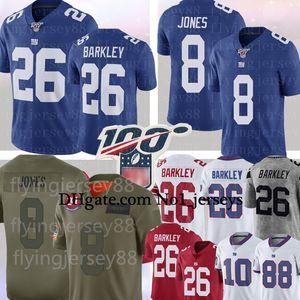 8 Daniel Jones 26 Saquon Barkley Jersey NewYorkGiantEli Manning 11 Phil Simms 87 Sterling Shepard Football Jerseys S-XXXL