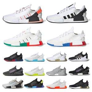adidas NMD R1 V2 boost  Primeknit Üçlü siyah Beyaz Arı nmds Erkekler Kadınlar Için konfor Koşu ayakkabıları OREO NMDS HIZ Koşucu Spor sneakers 36-45