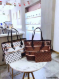 2pcs set high qulity classic Designer womens handbags flower ladies composite tote PU leather clutch shoulder bags female purse with wallet