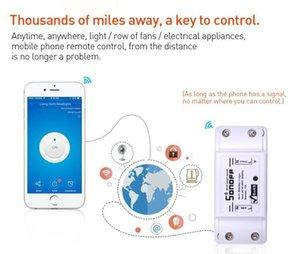 Orijinal Itead Sonoff Temel Kablosuz Akıllı Anahtar Modülü DIY Kablosuz Uzaktan Domotica Wifi Işık Ev Kontrol mjhome KUPsI Anahtarları