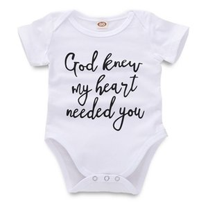Newborn Jumpsuit Baby Rompers Infant Baby Girl Boy Designer Clothes Letter Printed White Short Sleeve Toddler 43