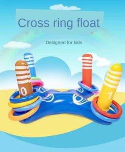 PVC-Kreuzring Spiel Aufblasbares Spielzeug floating Reihe Wasser Unterhaltung Kinder interaktives Outdoor-Spiel Hüpfburgen