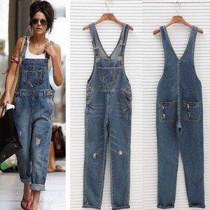 2020 Holes Camisole Palazzo Pants Women Ripped Loose Boyfriend Jeans Female Femme For Woman Plus Size Streetwear Jeanse Overall