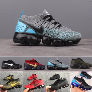 Nike Vapormax flyknit air max  2019 baby kid Knitting Portable Kids Running Shoes Children 2018 cushion KPU Sports Shoes Boys Girls Training Sneakers 28-35 freeshipping J