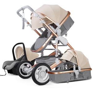 2020 High Landscape Детская коляска 3 в 1 люкс детская коляска 3 в 1 с автокресло Реверсивные Carrier сиденье автомобиля и