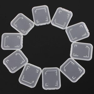 Memory Card Case Storage Case Transparent SD Memory Card Plastic Storage Retail Package Box T-Flash TF Card Packing Transparent Storage Case