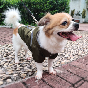 New Pet Raincoat Reflective Strip Hooded Dog Clothes Waterproof Foldable Pet Clothing