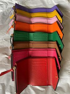 2020 뜨거운 판매 고전 유명한 디자이너가 인쇄 여러 가지 빛깔 좋은 품질의 도매 짧은 여성 지갑