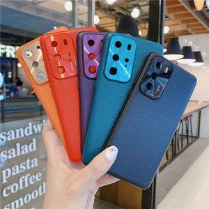 Luxury Hard PC Case For HUAWEI P40 PRO Lite Nova 7 Mate 30 P20 P30 Nova7 SE Honor V30 Pro 9A X10 Nova 6 SE Leather Back Cover