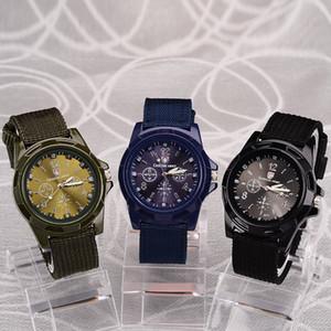 Gemius Army Watch 2020 Hommes Nylon Bande Montre militaire Mouvement Quartz de haute qualité Hommes Sport Décontractée Montre-bracelet réservoir Watchs