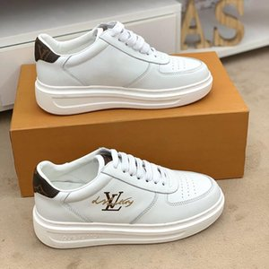 2020v customized version of luxury design printed high-quality leather sneakers wild mens casual shoes mens banquet shoes Size: 38-45
