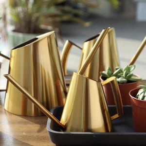 Aço inoxidável Watering Pot Jardinagem vaso pequeno rega pode usar Handle perfeito para regar as plantas Flower Garden Ferramenta Acessó