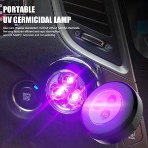Portátil 3LEDs Household UV germicida lâmpada Desinfecção Esterilização Luz Sanitizer toque interruptor Para Car Home dupla utilização