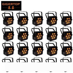 TIPTOP 20 وحدات مصغرة 7x15w الاسمية RGBWA DMX512 مرحلة أدى تأثير ضوء مصباح المنزل المرحلة الإضاءة 5IN1 اللون