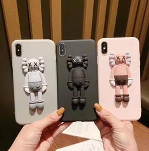 Para iPhone 11 Por Max X Max Xr X 6 7 8 6S más la caja suave de dibujos animados Toy cubierta Kaws 3D de caucho de silicona lindo
