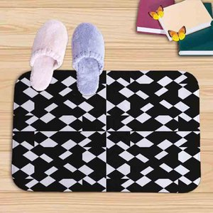 Bath Mat black white geometric Printed Bathroom Carpets Doormats Floor Mats in kitchen Living Room absorbent Anti-Slip Tapete