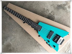 New Arrival! Headless Green Body Unusual Shape Electric Guitar,Rosewood fingerboard,Black hardware,Colour and Material Provide Customization